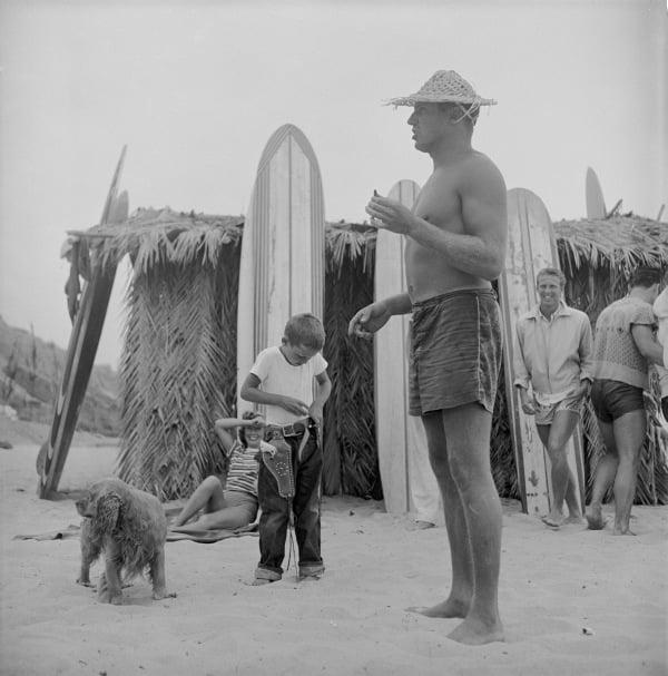 Kid Dog Gun Beach
