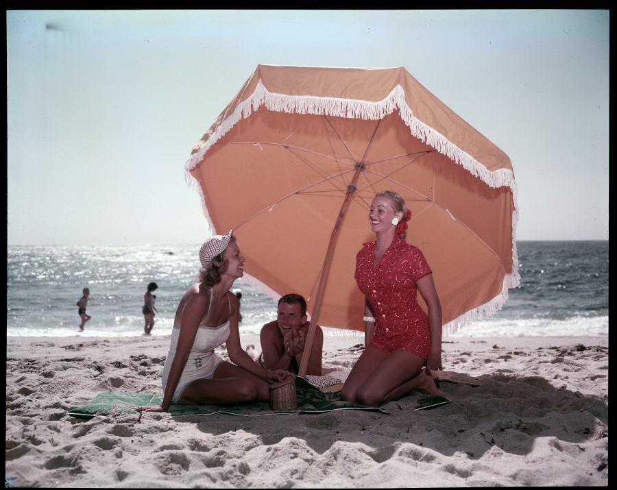 Ladies Under Umbrella