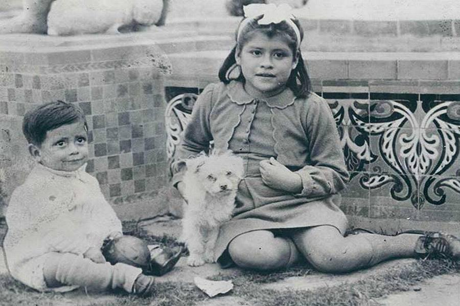Lina Medina With Dog