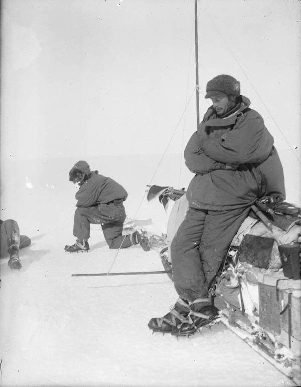 Mawson Resting On Sledge
