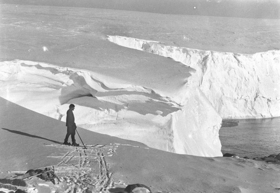 Mertz On Ice Cliff