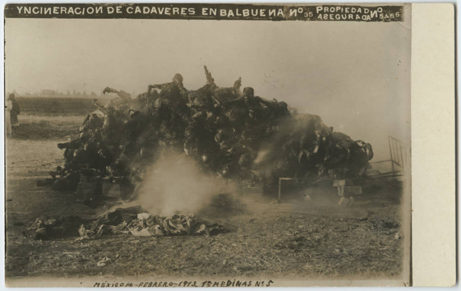 Mexican Revolution Incinerating Bodies