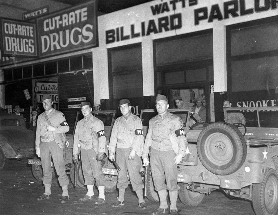 Military Police During Riot