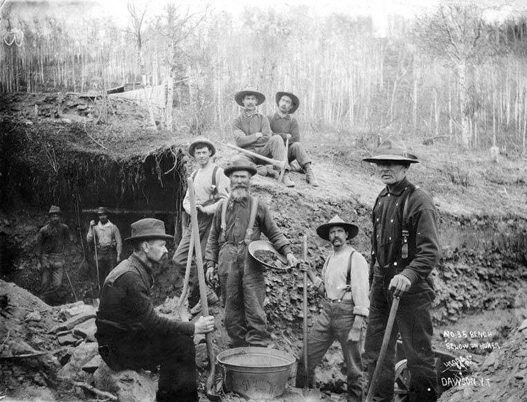 Miners At Hunter Creek