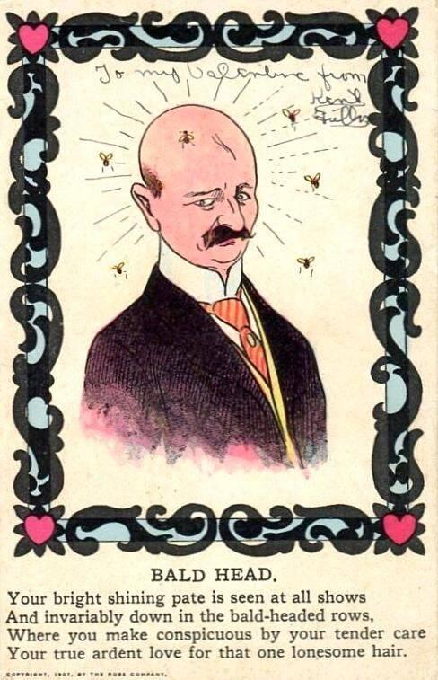 Mock Valentine Against Baldness