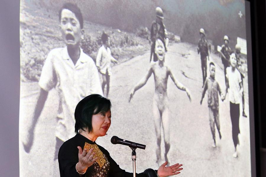 Napalm Girl Giving Speech