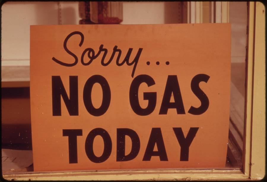 No Gas Sign