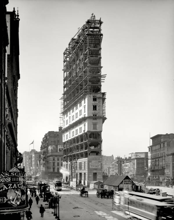 One Times Square Construction