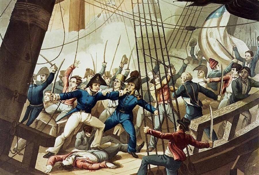 Painting Of The Chesapeake Raid