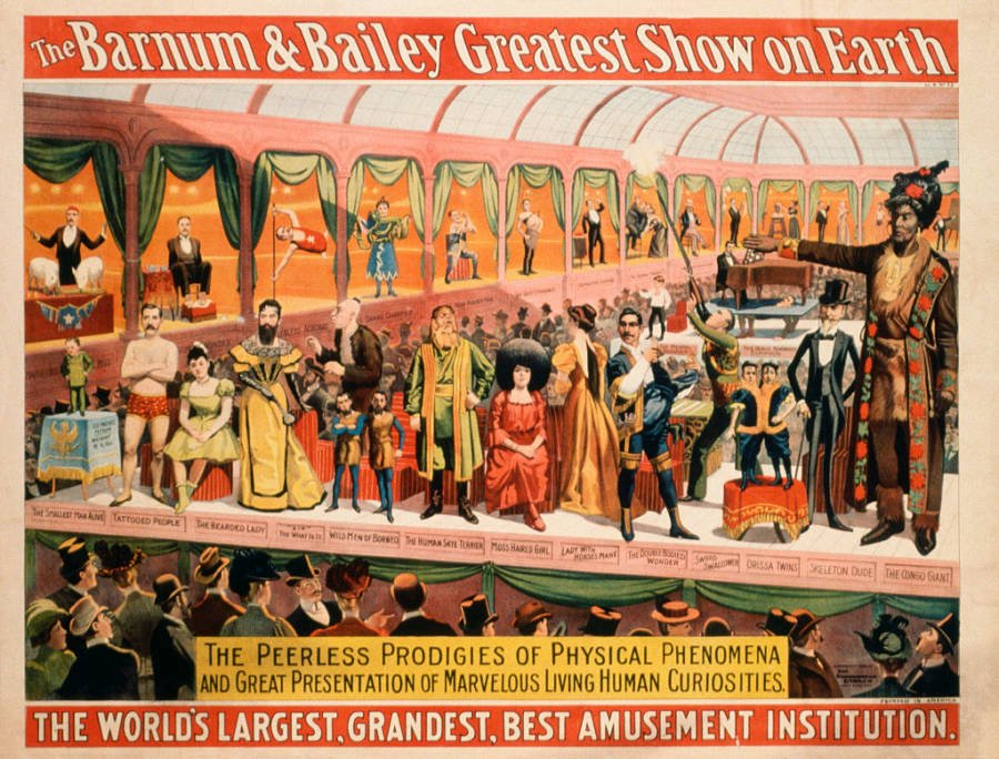 Vintage Poster For Barnum & Bailey Circus