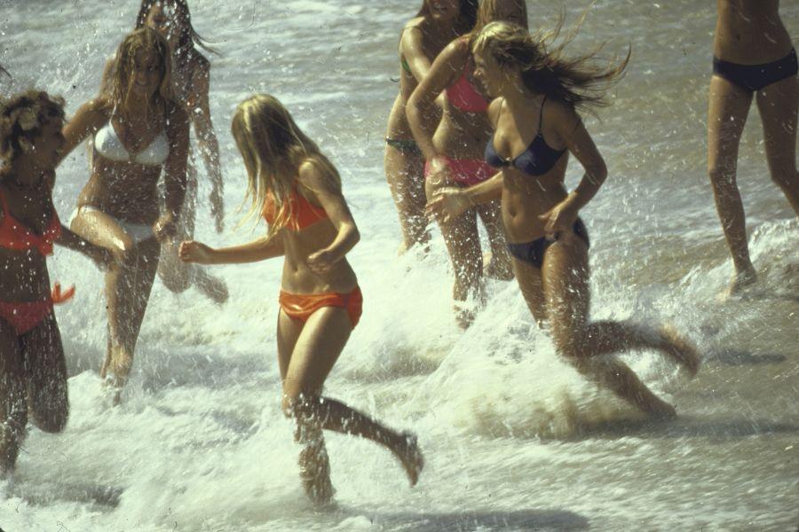 Running On Beach Girls