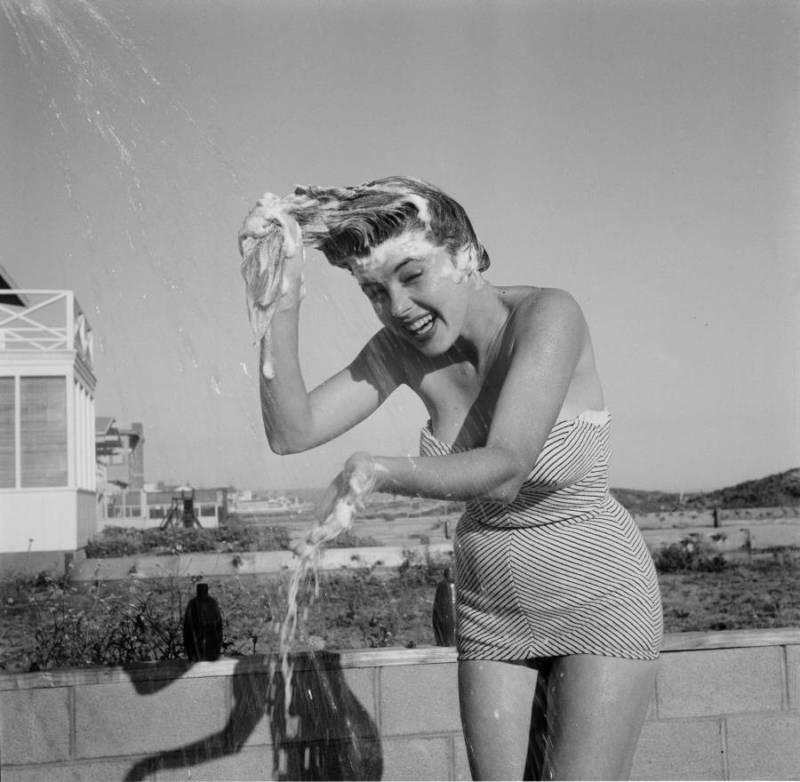 Shampoo On Beach