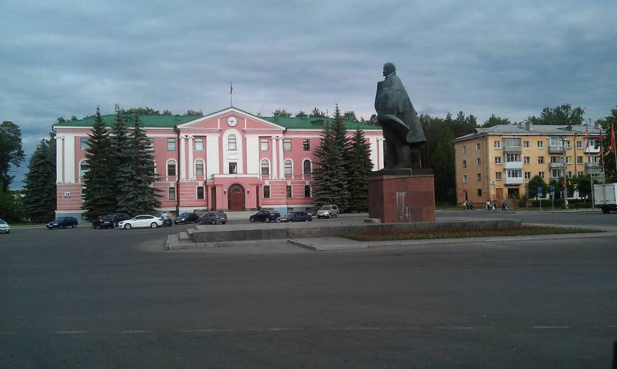 Lenin Square In Snezhinsk