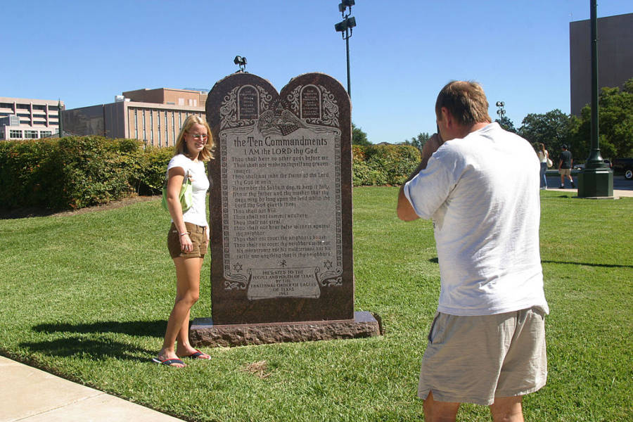 Ten Commandments Statue