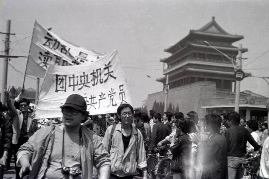 Tiananmen Protest Photos Baseball Hat
