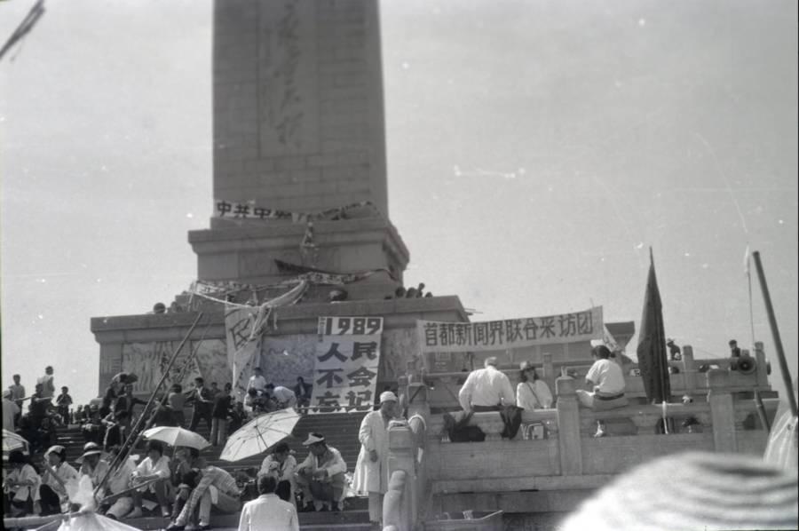Tiananmen Protest Photos Umbrella