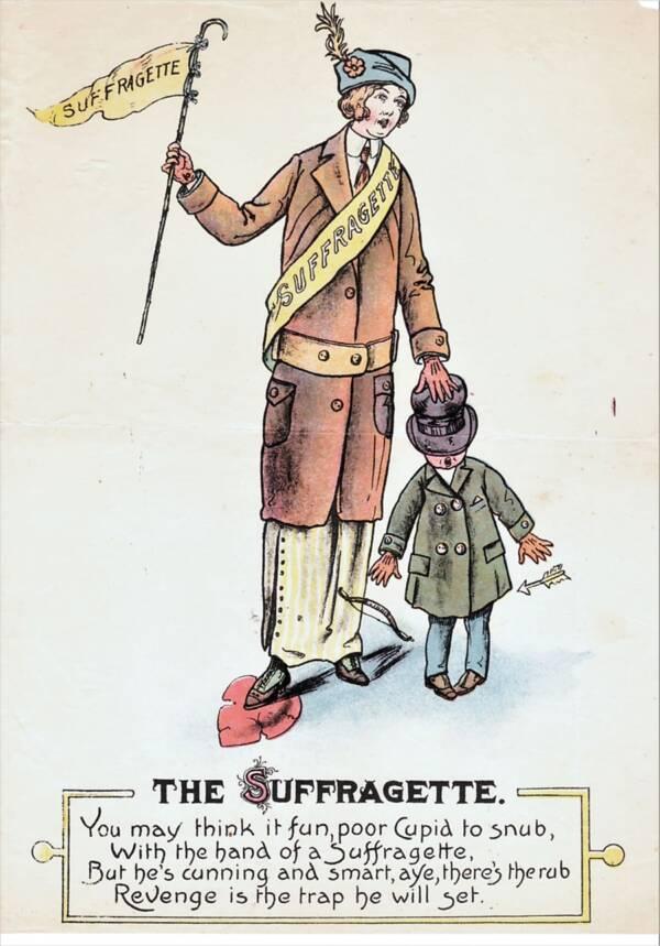 Vinegar Valentines Against Suffrage