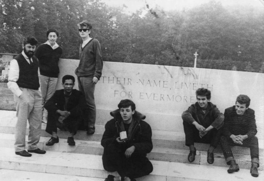 Stuart Sutcliffe With Beatles At War Memorial
