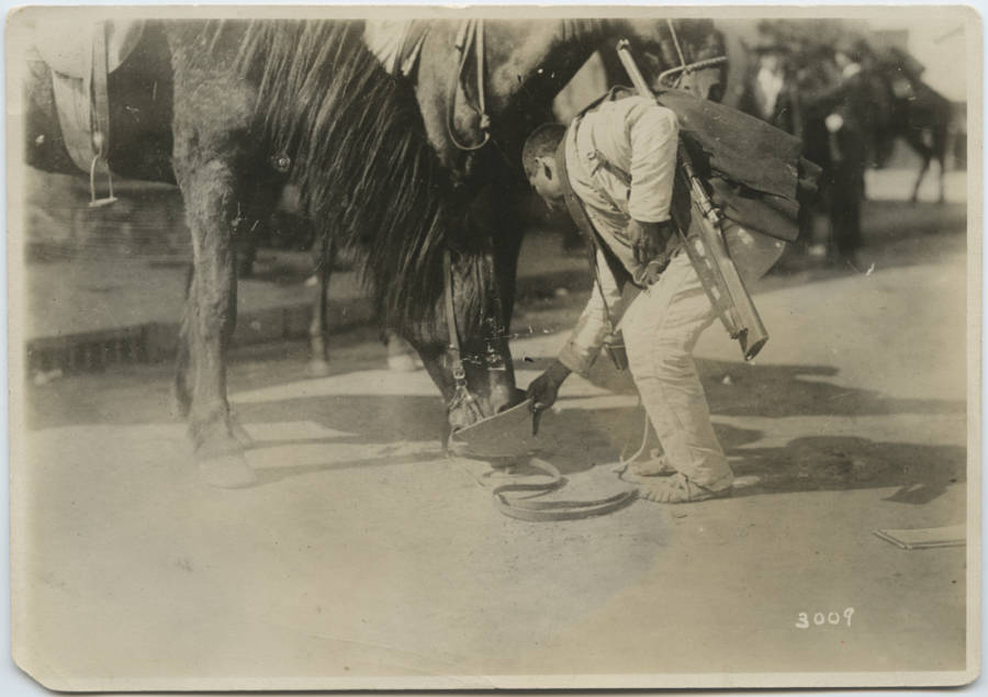 Watering His Horse