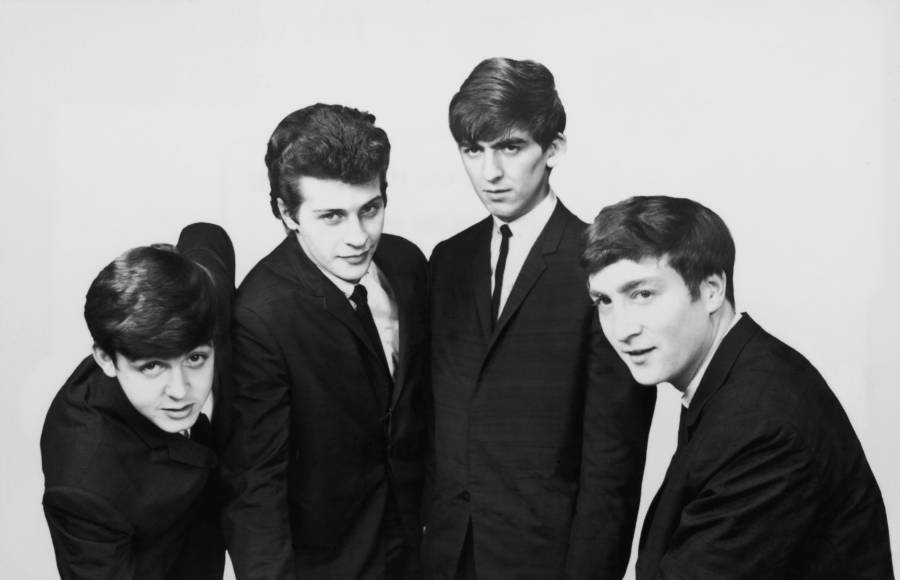 With Pete Best