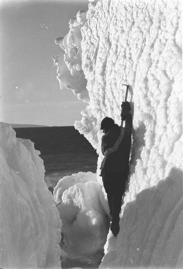 Xavier Mertz Climbing Ice