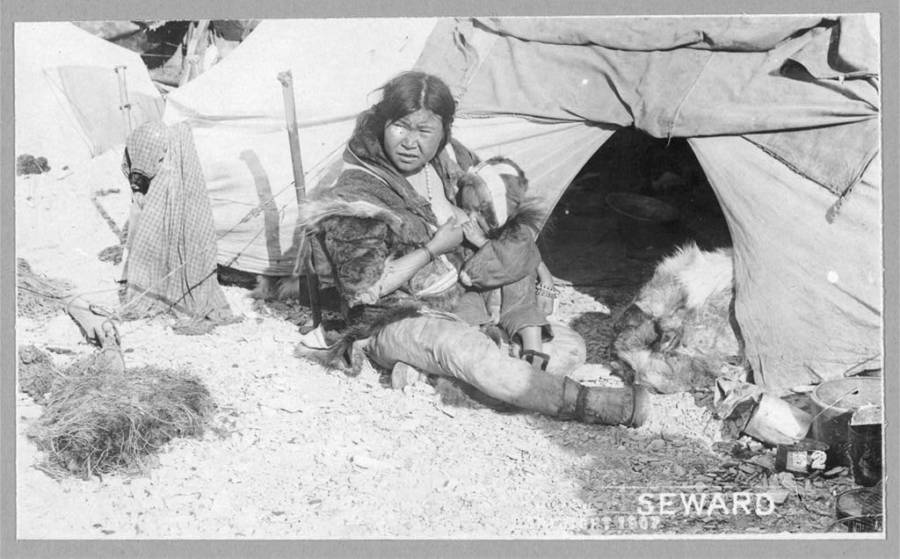 Alaskan Eskimo Mother Nursing