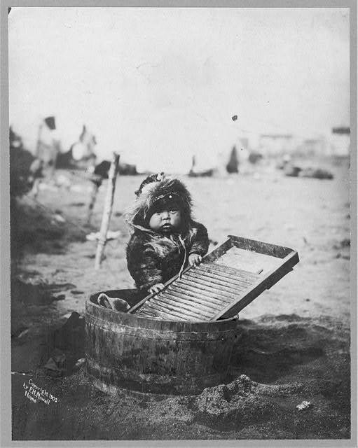 Baby At Washtub
