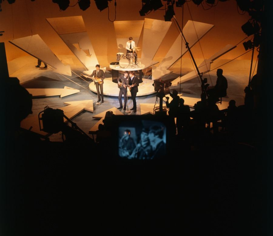 Beatles Performing Monitor Shot