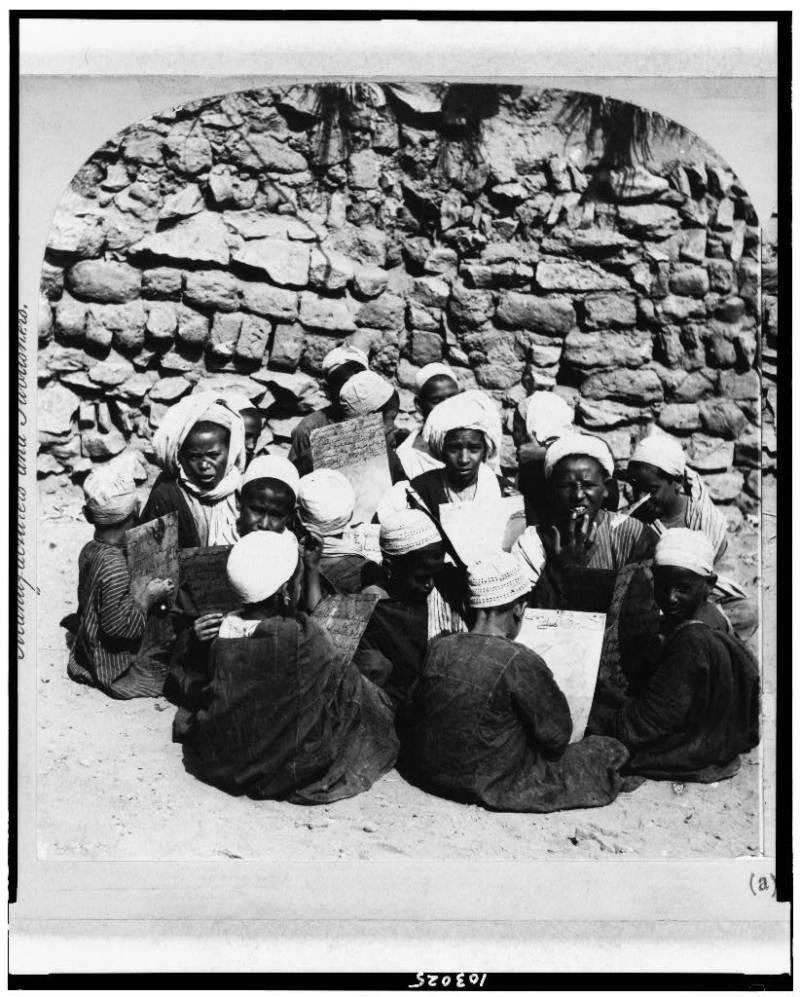 Bedouin Egyptians Learning Koran