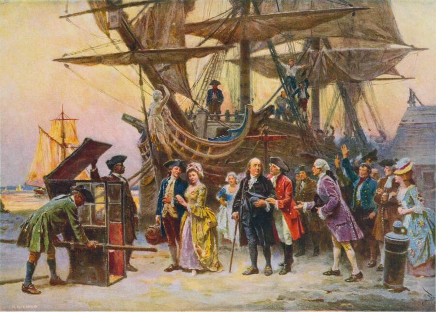 Benjamin Franklin Returns To Philadelphia