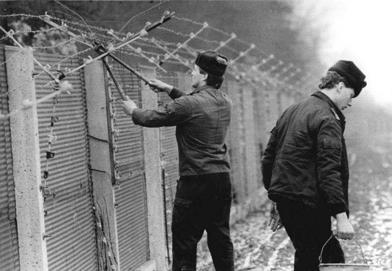Berlin Wall Cutting Barbwire