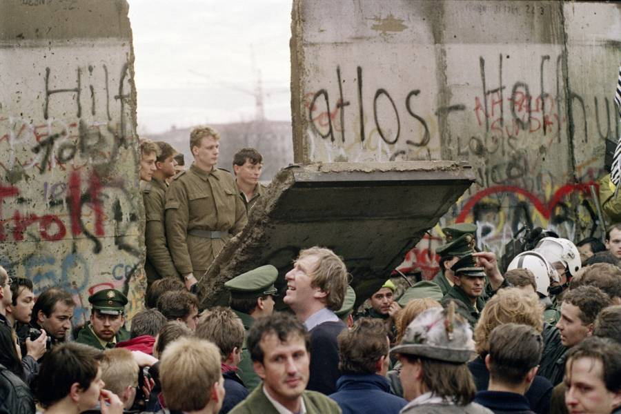 Berlin Wall Falls Down