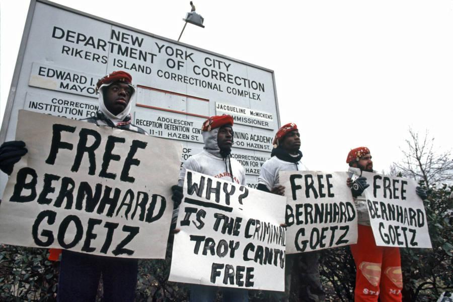 Bernhard Goetz Protest