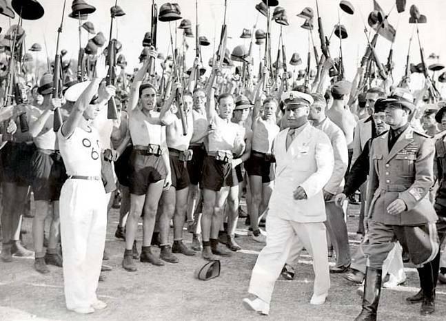 Blackshirt Youth Saulte Mussolini