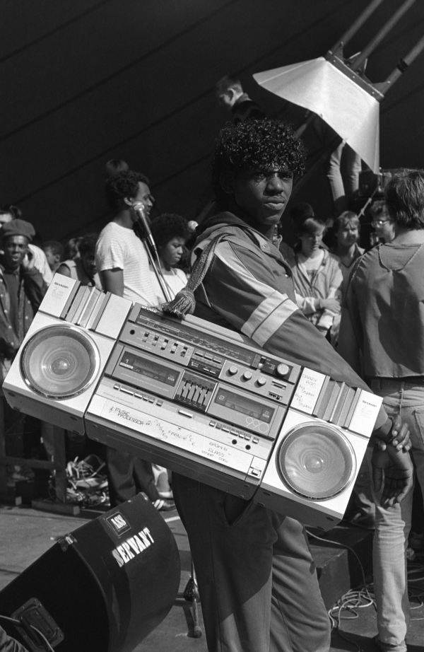 Boombox With Homemade Strap