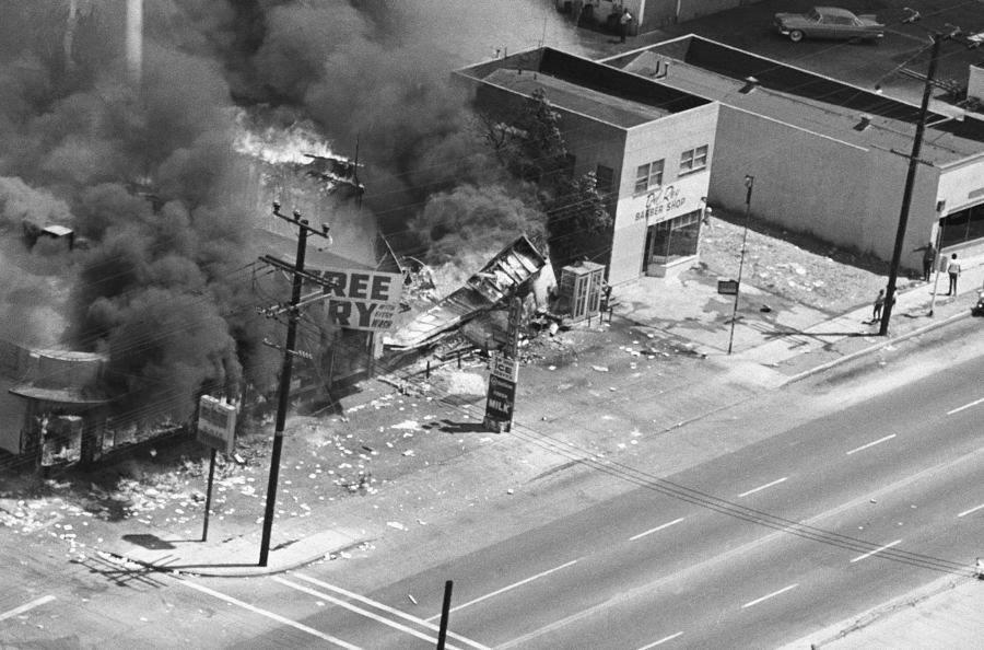 Burning Building Los Angeles Race Riots