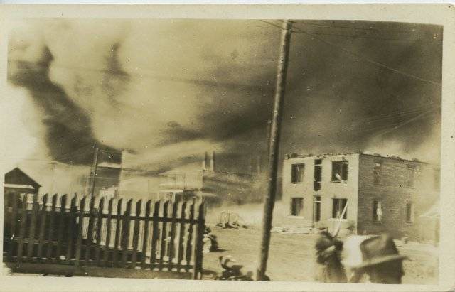 Burning Buildings Tulsa Riot