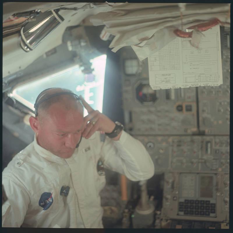 Buzz Aldrin In Flight