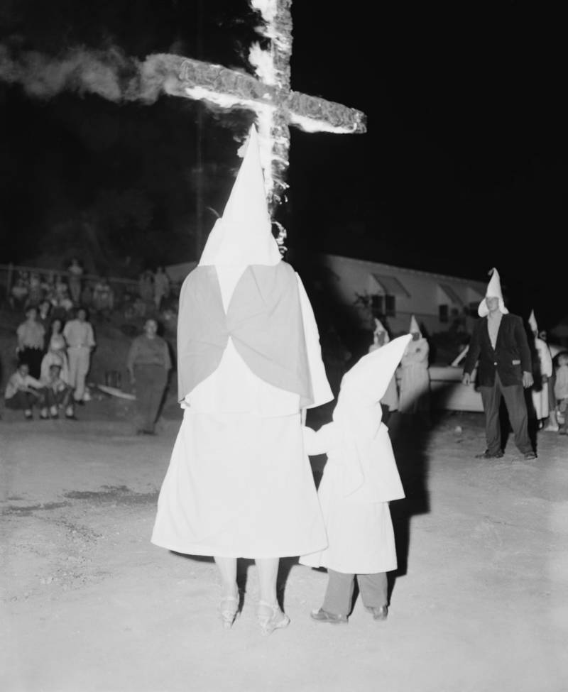 Child Watches Cross Burning