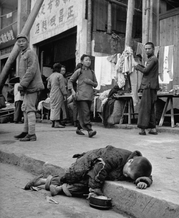 China Exhausted Child