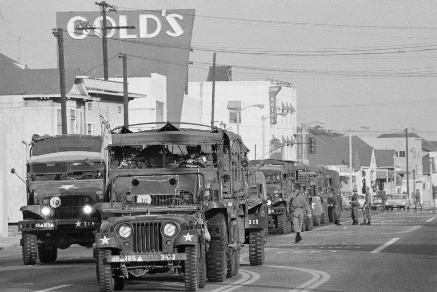 Convoy Of National Guard Troops