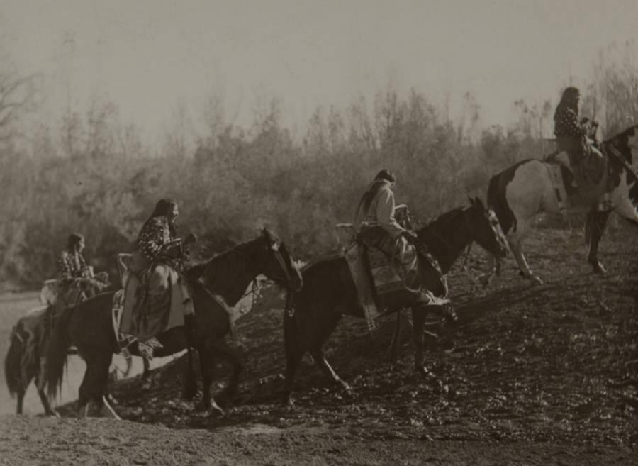 Crow Nation On Horseback
