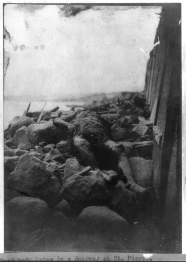 Dead Body In Rubble