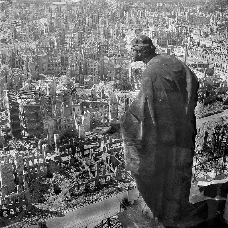 Dresden After Bombing Disaster