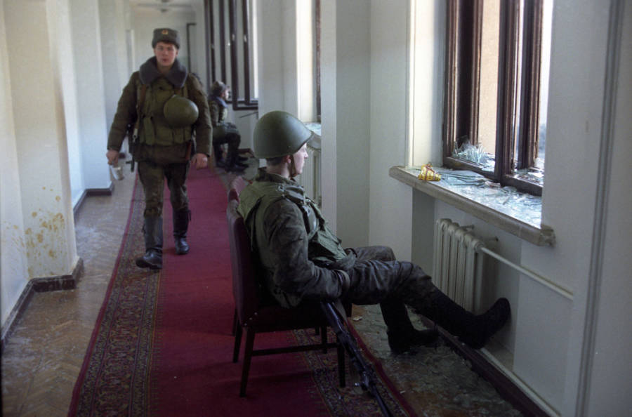 Dushanbe Riots Soldier