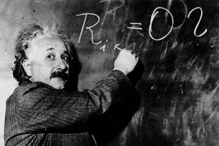 Einstein Picture Chalkboard