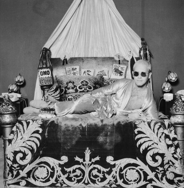 Elton John On Bed