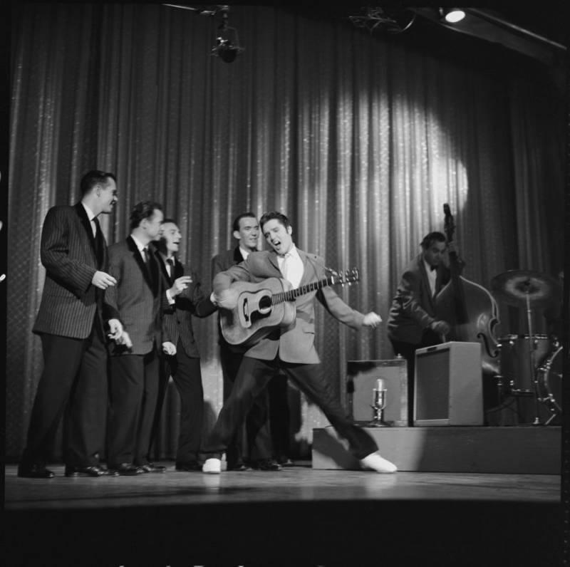 Elvis Dancing White Shoes