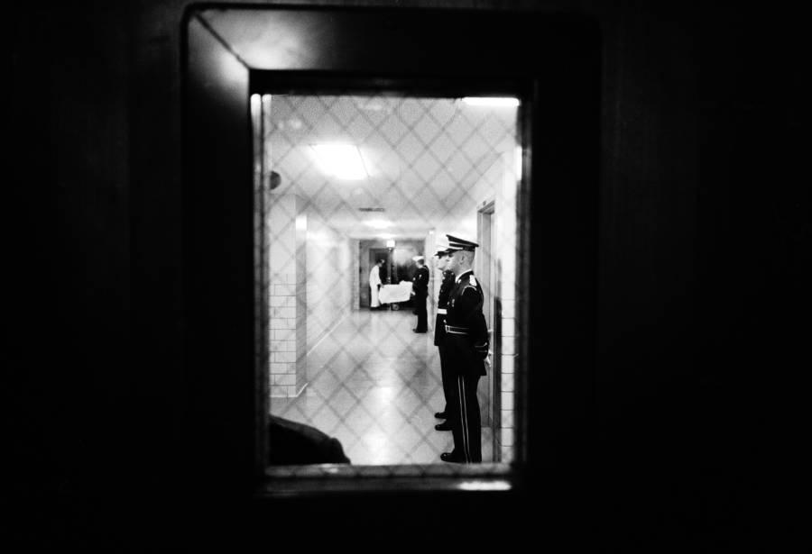 Guards Through Window