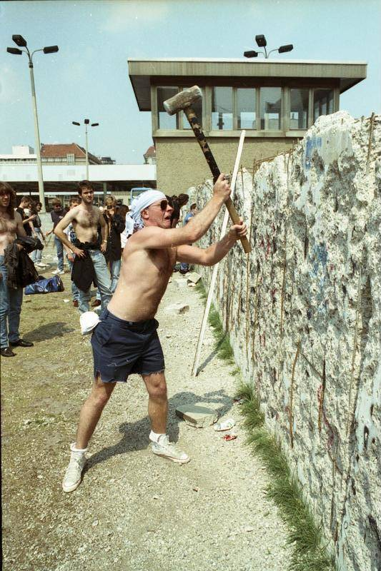 Hammering The Berlin Wall